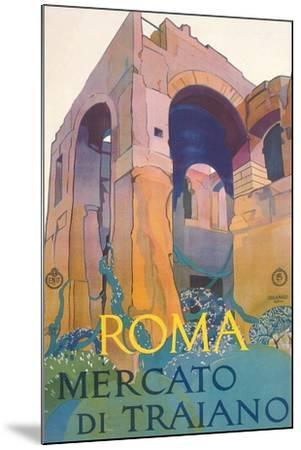 Travel Poster for Rome--Mounted Art Print