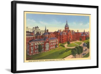 Johns Hopkins Hospital, Baltimore--Framed Art Print