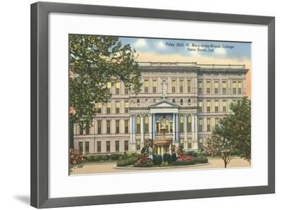 St, Mary of the Woods College, Terre Haute--Framed Art Print