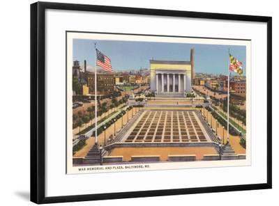 War Memorial, Baltimore--Framed Art Print