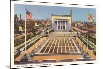 War Memorial, Baltimore--Mounted Art Print