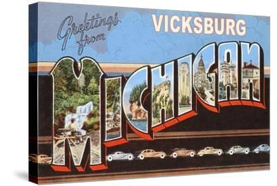 Greetings from Vicksburg--Stretched Canvas Print