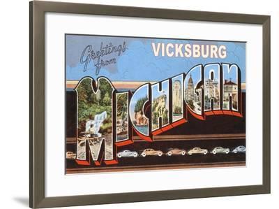 Greetings from Vicksburg--Framed Art Print
