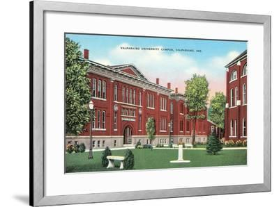 Valparaiso University Campus--Framed Art Print