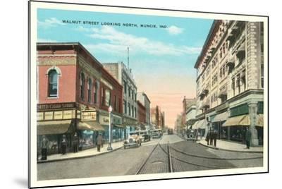 Walnut Street, Muncie--Mounted Art Print