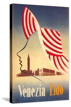 Travel Poster for Venice Lido--Stretched Canvas Print