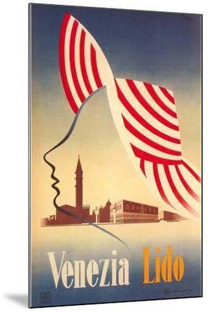 Travel Poster for Venice Lido--Mounted Art Print