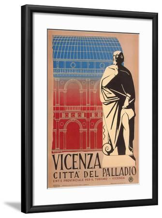 Travel Poster for Vicenza--Framed Art Print