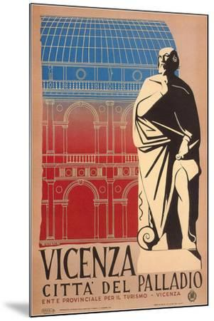 Travel Poster for Vicenza--Mounted Art Print