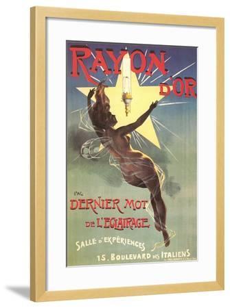 Ad for Rayon D'Or Lighting--Framed Art Print