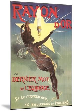 Ad for Rayon D'Or Lighting--Mounted Art Print