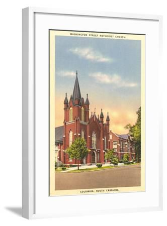 Washington Street Methodist, Columbia--Framed Art Print