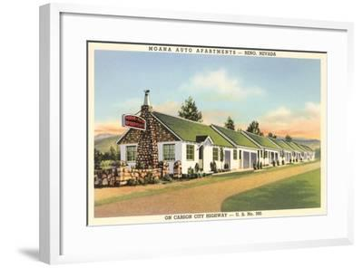 Moana Auto Apartments, Reno, Nevada--Framed Art Print