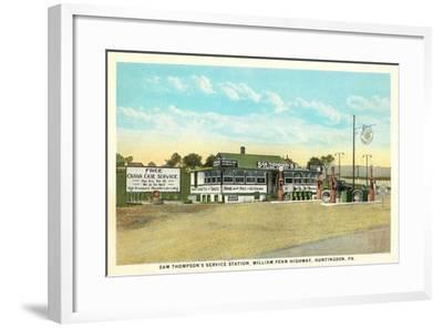 Sam Thompson Service Station, Huntingdon, PA--Framed Art Print