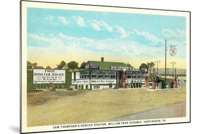 Sam Thompson Service Station, Huntingdon, PA--Mounted Art Print