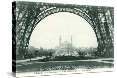 View of the Trocadero from Eiffel Tower--Stretched Canvas Print