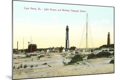Cape Henry Lighthouses--Mounted Art Print