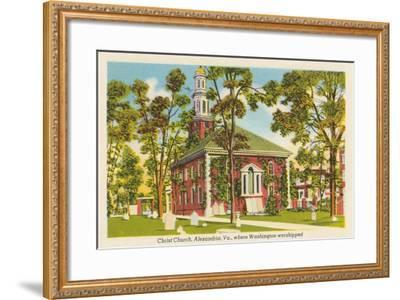 Christ Church, Alexandria, Virginia--Framed Art Print