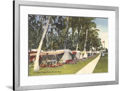 Trailer Campground, Florida--Framed Art Print