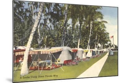 Trailer Campground, Florida--Mounted Art Print