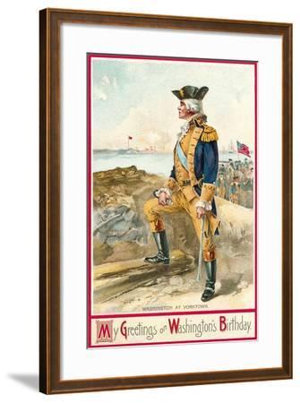 Washington at Yorktown--Framed Art Print