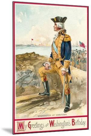 Washington at Yorktown--Mounted Art Print