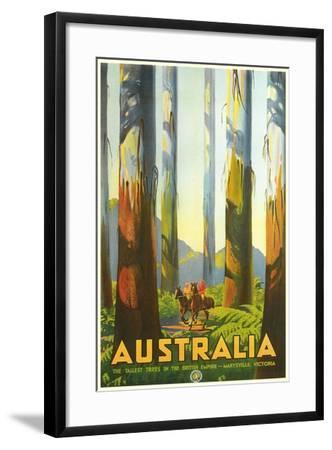Australia Travel Poster, Trees--Framed Art Print