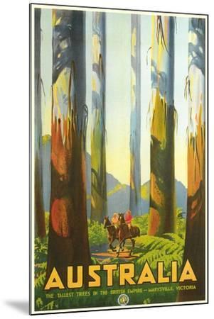 Australia Travel Poster, Trees--Mounted Art Print