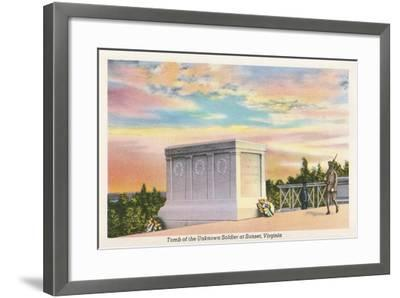 Tomb of Unknown Soldier, Arlington National Cemetery--Framed Art Print