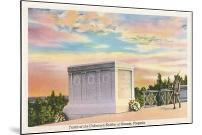 Tomb of Unknown Soldier, Arlington National Cemetery--Mounted Art Print