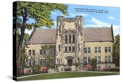 Administration Building, College of Wooster--Stretched Canvas Print