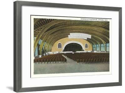 Auditorium Interior, Lakeside--Framed Art Print