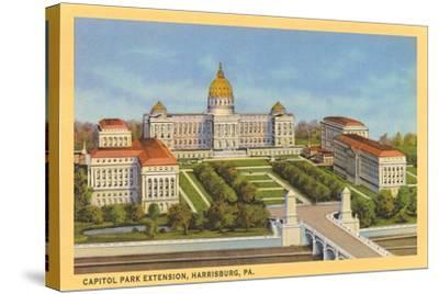 Capitol Park Extension, Harrisburg--Stretched Canvas Print