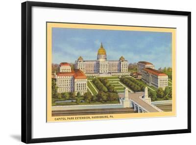 Capitol Park Extension, Harrisburg--Framed Art Print