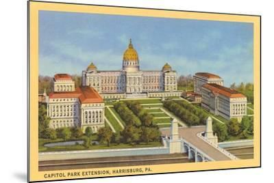 Capitol Park Extension, Harrisburg--Mounted Art Print
