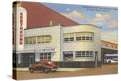 Greyhound Bus Terminal, Erie--Stretched Canvas Print