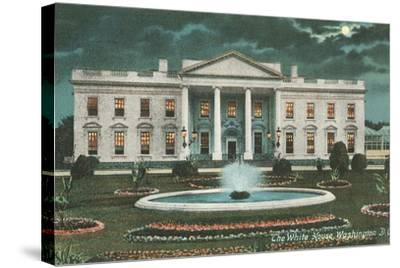 Old White House Illustration--Stretched Canvas Print