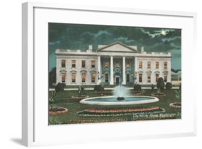 Old White House Illustration--Framed Art Print