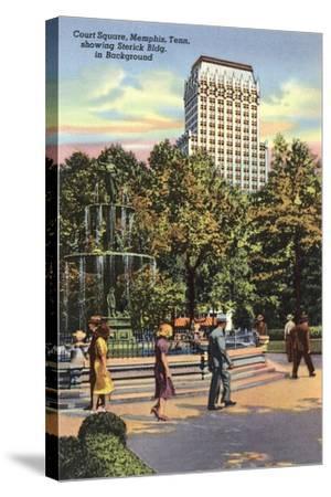 Court Square, Memphis--Stretched Canvas Print