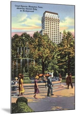 Court Square, Memphis--Mounted Art Print