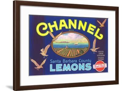 Channel Lemon Label--Framed Art Print