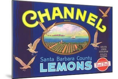 Channel Lemon Label--Mounted Art Print