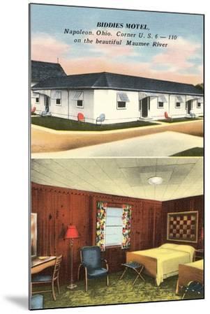 Biddies Motel, Napoleon, Ohio--Mounted Art Print