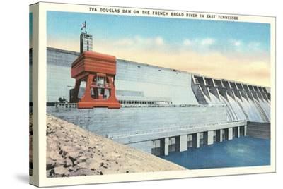 TVA Douglas Dam--Stretched Canvas Print