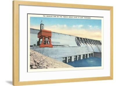 TVA Douglas Dam--Framed Art Print