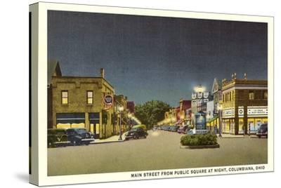 Main Street, Columbiana--Stretched Canvas Print