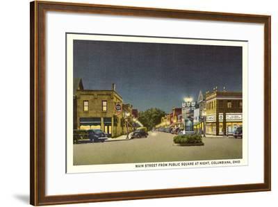 Main Street, Columbiana--Framed Art Print