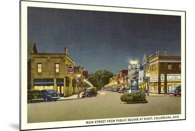 Main Street, Columbiana--Mounted Art Print