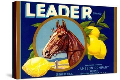 Leader Lemon Label--Stretched Canvas Print