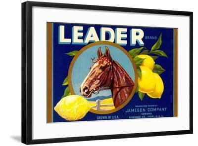Leader Lemon Label--Framed Art Print